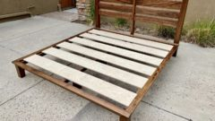 slat-back platform bed no mattress