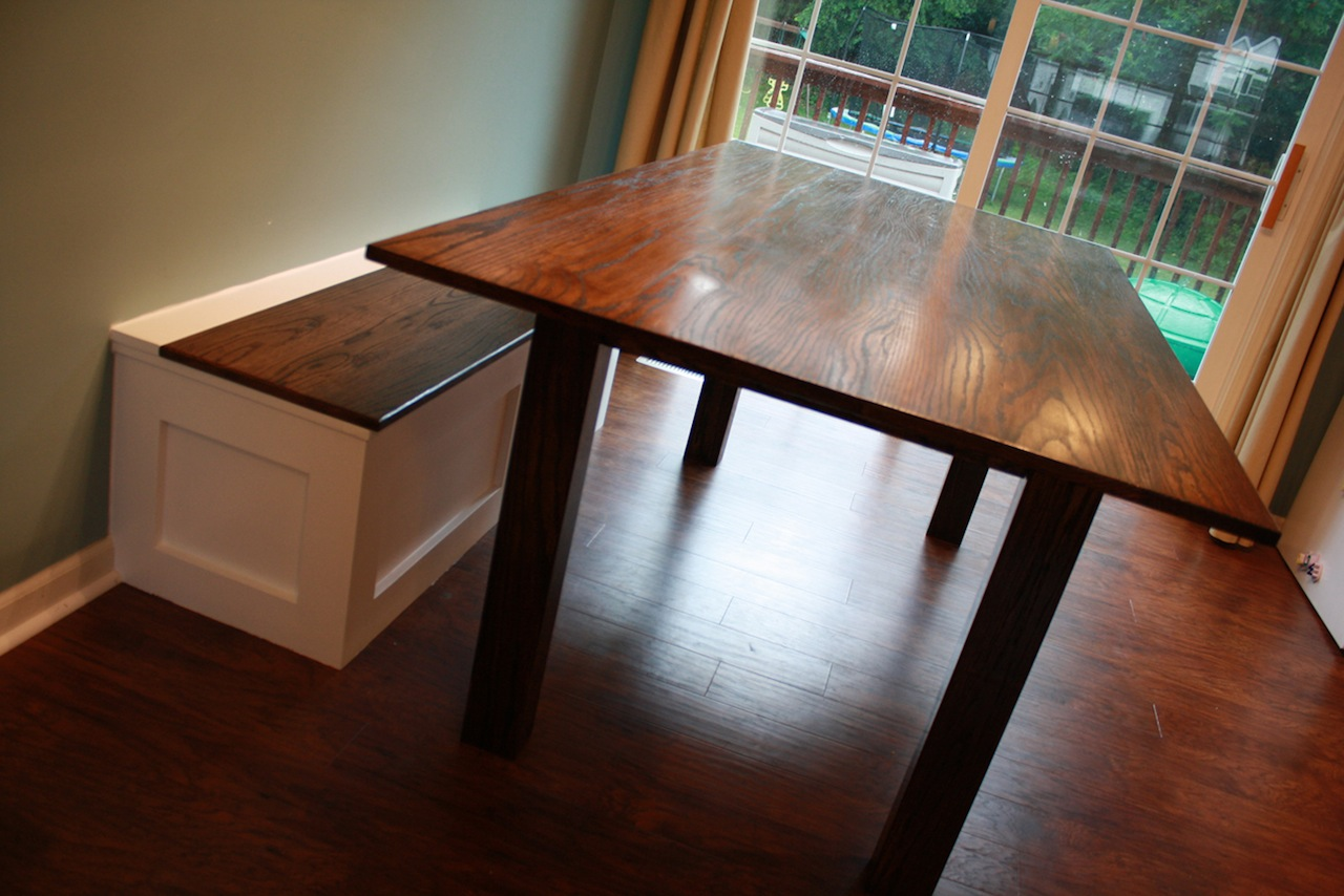 Table And Built In Storage Bench
