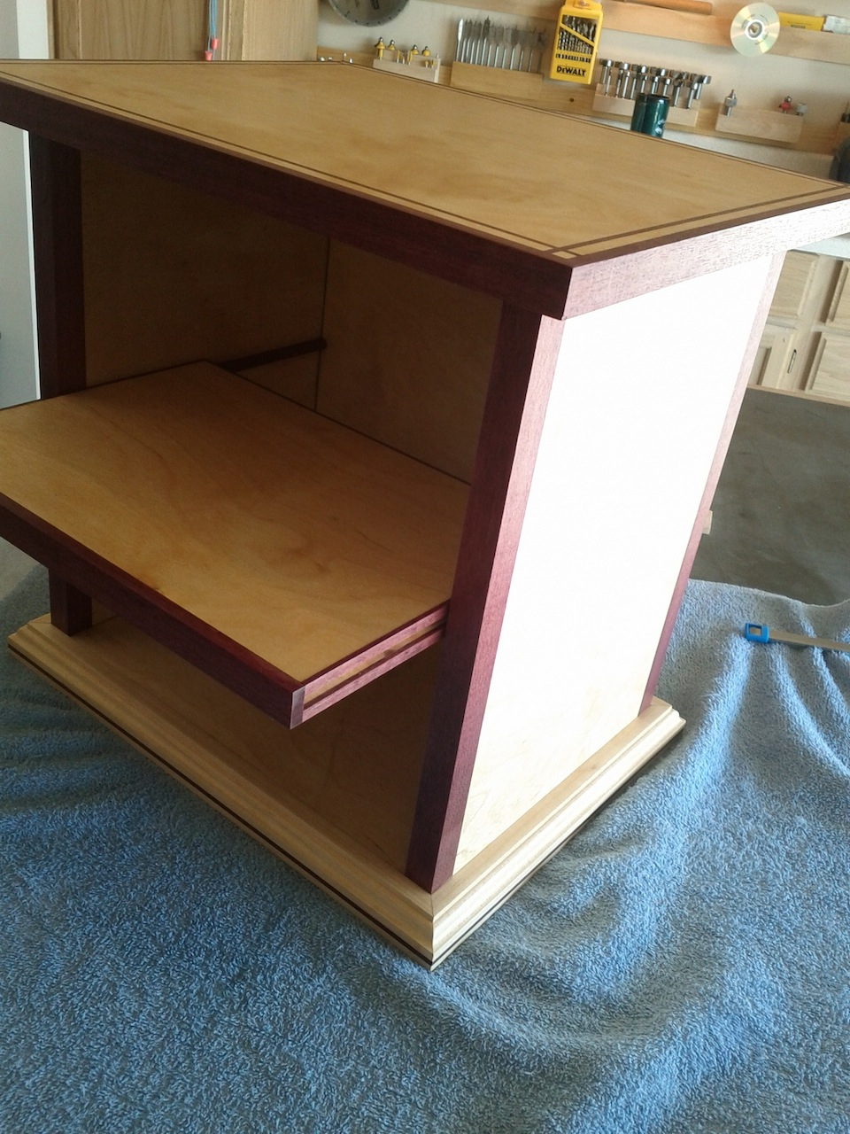 Kirk's Purpleheart Accented End Table   The Wood Whisperer