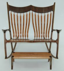 Paul S Sculpted Double Rocking Chair The Wood Whisperer