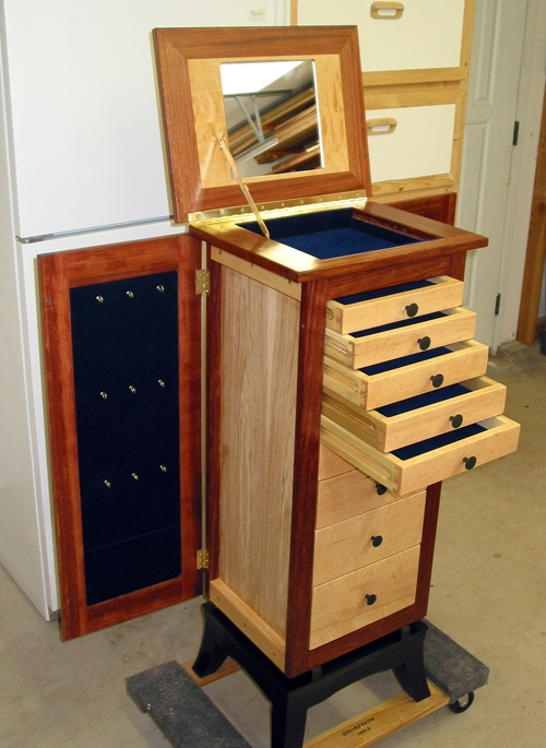 Tim S Jewelry Armoire The Wood Whisperer, Used Jewelry Armoire